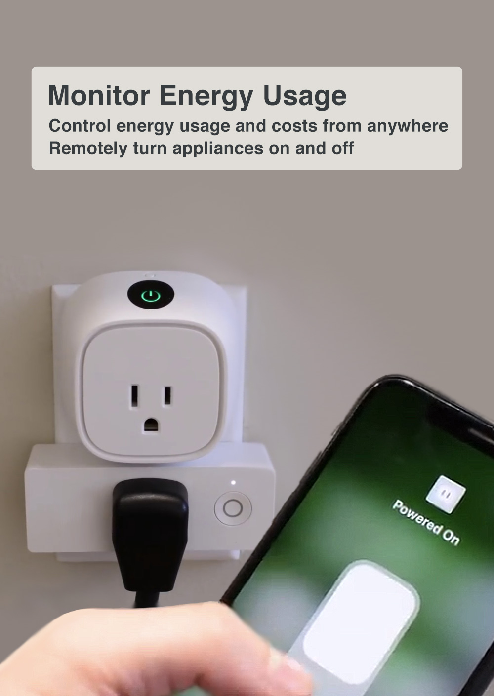 Monitor the energy consumption from your house appliances.