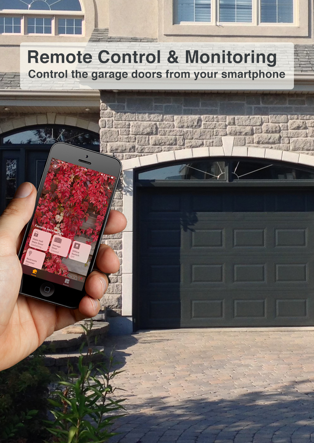 Smart home helps to provide a higher level of security by monitoring the garage doors